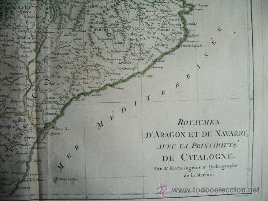 Arte: 1787-MAPA NAVARRA PAMPLONA TERUEL HUESCA ZARAGOZA TORTOSA TARRAGONA BARCELONA TUDELA ALCAÑIZ BARBAST - Foto 4 - 34674987