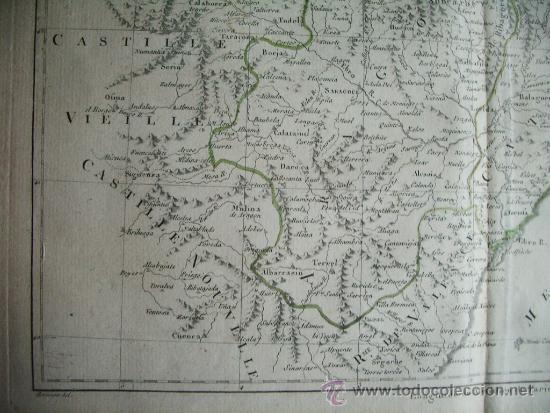 Arte: 1787-MAPA NAVARRA PAMPLONA TERUEL HUESCA ZARAGOZA TORTOSA TARRAGONA BARCELONA TUDELA ALCAÑIZ BARBAST - Foto 5 - 34674987