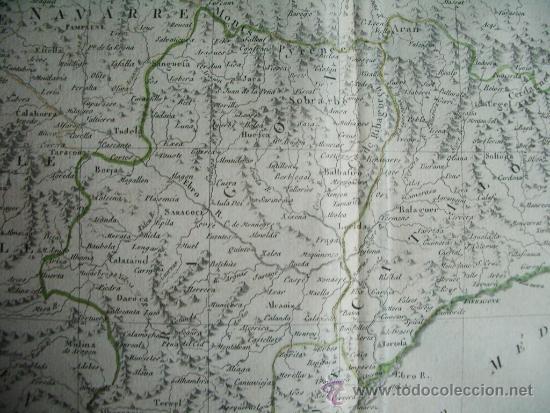 Arte: 1787-MAPA NAVARRA PAMPLONA TERUEL HUESCA ZARAGOZA TORTOSA TARRAGONA BARCELONA TUDELA ALCAÑIZ BARBAST - Foto 6 - 34674987