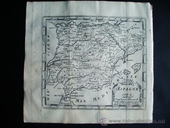1725-MAPA ORIGINAL DE ESPAÑA Y PORTUGAL. JACQUES PEETERS (Arte - Cartografía Antigua (hasta S. XIX))