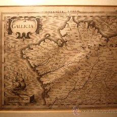 Arte: MUY ANTIGUO MAPA DE GALICIA DE 1630. PROCEDE DEL ATLÁS MINOR. Lote 34929946
