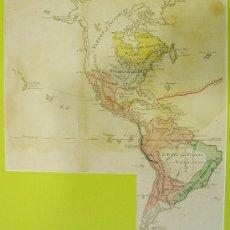 Arte: PRECIOSO MAPA DE AMERICA. S. XVIIII.PLANCHA DE COBRE COLOREADO EN LA EPOCA.. Lote 35511644