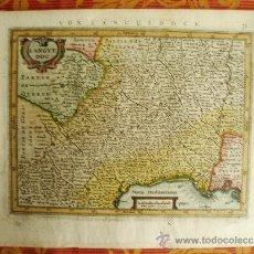 Arte: 1630C-MAPA DE LANGUEDOC. FRANCIA. FRANCE. ORIGINAL DE MERCATOR.. Lote 52376884