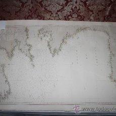 Arte: CARTA DEL GOLFO DE VIZCAYA Y PARTE DE LOS CANALES DE LA MANCHA Y DE SAN JORGE - AÑO 1867. Lote 35912135