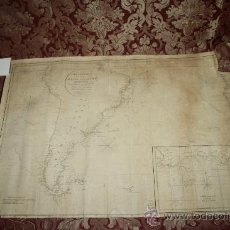 Arte: CARTA GENERAL DEL OCEANO ATLANTICO MERIDIONAL - POR D. J. DE ESPINOSA - LONDRES AÑO DE 1810. Lote 35923795