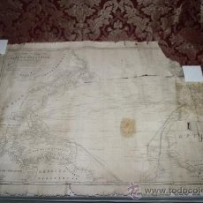 Arte: CARTA GENERAL DEL OCEANO ATLANTICO SEPTENTRIONAL - DIRECCION HIDROGRAFICA - MADRID AÑO 1837. Lote 35926558