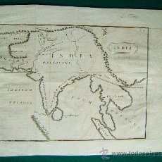 Arte: INDIA - (PAKISTAN, CEYLAN, MALDIVAS Y SURESTE ASIATICO) - ANONIMO - MAPA 24X37 CM - AÑOS 1760 ? . Lote 35969918