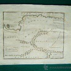 Arte: CYRENAICA (LIBIA, EGIPTO, ETIOPIA) - ANONIMO - MAPA 26X34 CM. - AÑOS 1760 ? . Lote 35976765