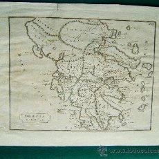 Arte: GRAECIA ET INSULAE ( GRECIA, PELOPONESO Y SUS ISLAS ) - ANONIMO - MAPA DE 24 X 36 CM. - AÑOS 1760 ? . Lote 35977167
