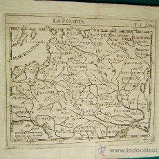 Arte: LA POLONIA - CASTELLS ? - MAPA 17X22 CM. - SIGLOS XVI-SVII ? . Lote 35995461