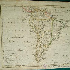 Arte: SOUTH AMERICA FROM THE BEST AUTHORITIES - GUILLERMO GUTHRIE - LONDON - MAPA 21X26 CM. - AÑO 1794 ? . Lote 35996230