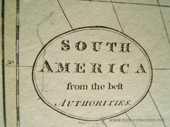 Arte: SOUTH AMERICA FROM THE BEST AUTHORITIES - GUILLERMO GUTHRIE - LONDON - MAPA 21X26 CM. - AÑO 1794 ? - Foto 2 - 35996230