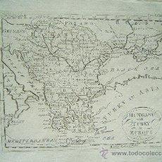 Arte: HUNGARY WITH TURKY IN EUROPE -THOMAS SALMON Y WILLIAM JOHNSTON -LONDON- MAPA 21X26 - AÑO 1749 ?. Lote 35998052
