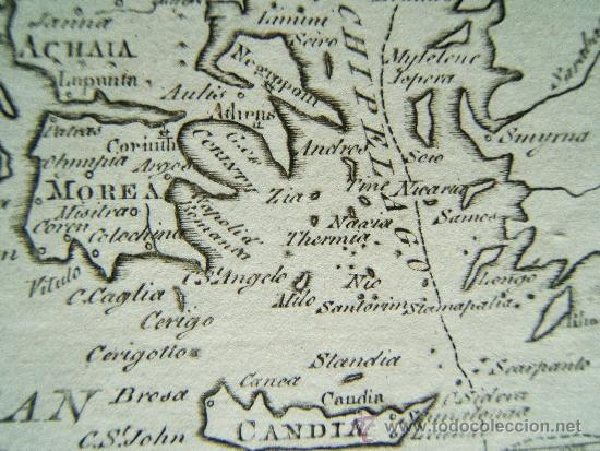 Arte: HUNGARY WITH TURKY IN EUROPE -THOMAS SALMON Y WILLIAM JOHNSTON -LONDON- MAPA 21X26 - AÑO 1749 ? - Foto 3 - 35998052