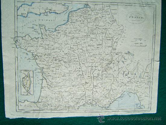 FRANCE - A. BELL PRIN. WATS SCULPTOR FECIT - LONDON - MAPA 21X27 CM. - AÑOS 1790/1795 ? (Arte - Cartografía Antigua (hasta S. XIX))