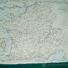 Arte: FRANCE - A. BELL PRIN. WATS SCULPTOR FECIT - LONDON - MAPA 21X27 CM. - AÑOS 1790/1795 ? . Lote 36008232