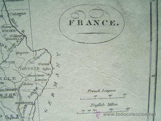 Arte: FRANCE - A. BELL PRIN. WATS SCULPTOR FECIT - LONDON - MAPA 21X27 CM. - AÑOS 1790/1795 ? - Foto 2 - 36008232