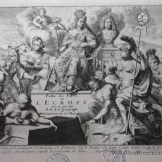 Arte: FRONTISPICIO O PORTADA DE ATLAS DE EUROPA, NICOLAS DE FER, 1696. Lote 36223504