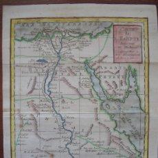 Arte: MAPA DE EGIPTO ANTIGUO Y MODERNO. AÑO 1787. JOSEPH DE LA PORTE. FRANCÉS. ILUMINADO. ÁFRICA. Lote 36270525