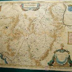 Arte: ARAGONIA ET NAVARRA - MAPA DE GUILLERMO BLAEU - ATLAS MAIOR JANSSONIUS - 41X53 CM. - 1605/1640 ? . Lote 36476262