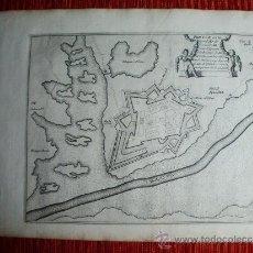 Arte: 1695-MAPA FUENTERRABÍA. HONDARRIBIA. GUIPÚZCOA. GRABADO ORIGINAL. Lote 36476944