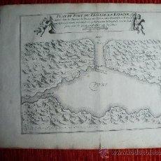 Arte: 1695-MAPA PASAIA. PASAJES. GUIPÚZCOA. GRABADO ORIGINAL. Lote 36477013
