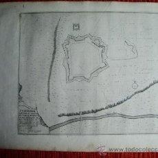 Arte: 1695-MAPA PUIGCERDÁ. GIRONA. GERONA. GRABADO ORIGINAL. Lote 36477074