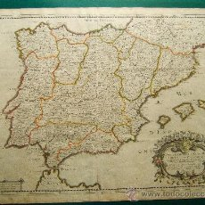 Arte: CARTE GENERALE D' ESPAGNE ET DE TOUS LES ROYAUMES - MAPA DE NICOLAS SANSON - 44X59 CM.- AÑO 1641. . Lote 36485361