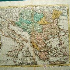 Arte: DANVBIVS & ISTER CUM DOMINIO TURCICO IN EUROPA - MAPA DE CHRISTOPH WEIGEL - 39X48 CM.-1715/1720 ?. . Lote 36485941