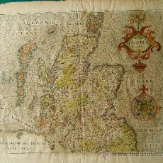 Arte: SCOTIA REGNUM - (ESCOCIA) - MAPA DE WILLIAM HOLE - JODOCUS HONDIUS - 31X39 CM. - 1607 ?. . Lote 36522997