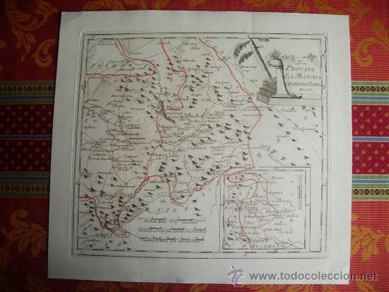 1795-MAPA.BARRAX.MUNERA.CHINCHILLA.VILLARROBLEDO.ALCARAZ.SILES.RIOPAR.PEÑAS.ELCHE.SALOBRE.BONILLO (Arte - Cartografía Antigua (hasta S. XIX))