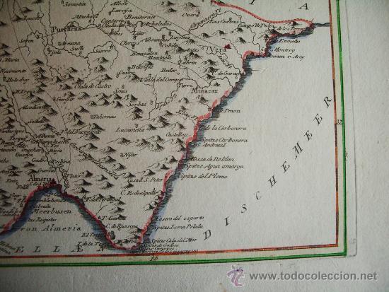 1795 Mapa Granada Baza Almeria Purchena Guadix Sold Through