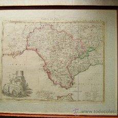 Arte: CARTE DE SEVILLA-SEVILLA REGNUM-MAPA DE TOMAS LOPEZ DE VARGAS MACHUCA-55X67 CM-AÑO 1781.. Lote 36559400