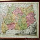 Arte: PRINCIPATUS CATALONIAE-MAPA CATALUÑA-CATALUNYA-SPAIN-ESPAÑA-RARO-J BAPT HOMANN-53X61 CM-1707/1712?. Lote 36559800