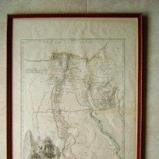 Arte: CARTE DE L' EGYPTE ANCIENNE ET MODERNE - MAPA ROBERT DE VAUGONDY - 81X55 CM. - AÑO 1753. . Lote 36560107