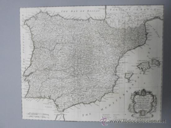 GRAN MAPA DE ESPAÑA Y PORTUGAL, 1745, SEALE (Arte - Cartografía Antigua (hasta S. XIX))