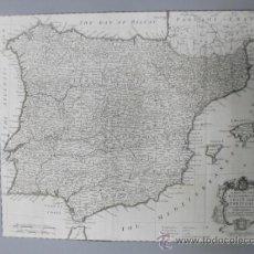 Arte: GRAN MAPA DE ESPAÑA Y PORTUGAL, 1745, SEALE. Lote 36714426