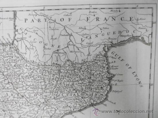 Arte: Gran mapa de España y Portugal, 1745, Seale - Foto 7 - 36714426