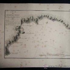 Arte: 1828-MAPA. PLANO. CARTA NAÚTICA DE LOS BERENGUELES. ALMUÑECAR. GRANADA. ORIGINAL. . Lote 36744302
