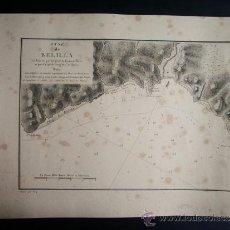 Arte: 1828-MAPA. PLANO. CARTA NAÚTICA DE VELILLA. ALMUÑECAR. GRANADA. ORIGINAL.. Lote 136194418