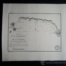 Arte: 1828-MAPA.CARTA NAÚTICA MAZARRÓN. MURCIA. ORIGINAL. . Lote 36744425