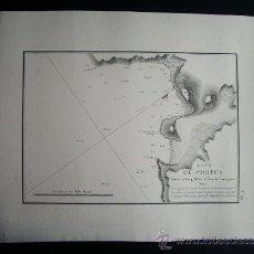 Arte: 1828-MAPA.CARTA NAÚTICA PORTUS. CARTAGENA. MURCIA. ORIGINAL. . Lote 36744475