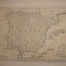 Arte: MAPA DE ESPAÑA , ORIGINAL, LONDRES, 1780, THOMAS BOWEN , PERFECTO ESTADO. Lote 36859756