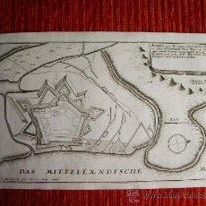 Arte: 1695- MAPA PLANO ORIGINAL DE ROSES. ROSAS. GIRONA. GERONA. Lote 36923407
