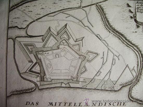Arte: 1695- MAPA PLANO ORIGINAL DE ROSES. ROSAS. GIRONA. GERONA - Foto 2 - 36923407