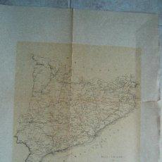 Arte: MAPA ITINERARIO DE CATALUÑA - F.GONZALEZ ROJAS EDITOR - 61X45 CM.- FINALES SIGLO XIX - 1ª EDICION.. Lote 36997015
