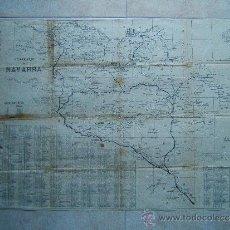 Arte: ITINERARIO DE NAVARRA Y PROVINCIAS VASCONGADAS-JUAN SEGUROLA LINARES-MAPA 59X80 CM-1873 -1ª EDICION.. Lote 36997605