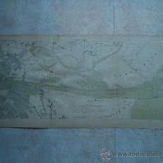Arte: DUBLIN-IRLANDA-MARCHADIER-MAPA 33X70 CM-ATLAS PORTS ETRANGERS-1884-1ª EDICION.. Lote 37016662