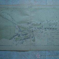 Arte: LEITH-EDIMBURGO-ESCOCIA-REINO UNIDO-MARCHADIER-MAPA 33X49-ATLAS PORTS ETRANGERS-1884-1ªEDICION.. Lote 37018189