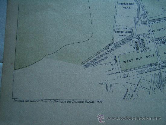 Arte: LEITH-EDIMBURGO-ESCOCIA-REINO UNIDO-MARCHADIER-MAPA 33X49-ATLAS PORTS ETRANGERS-1884-1ªEDICION. - Foto 3 - 37018189